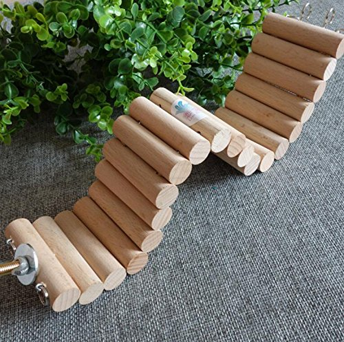 Perchoir flexible en bois naturel jouet suspendu escalier échelle pour hamster oiseaux perroquets perruches etc