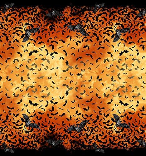 Halloween Stoff Bordüre–Halloween Fledermäuse doppelte Bordüre–Baumwolle von 60cm–TT146–von Timeless Treasures–100% Baumwolle