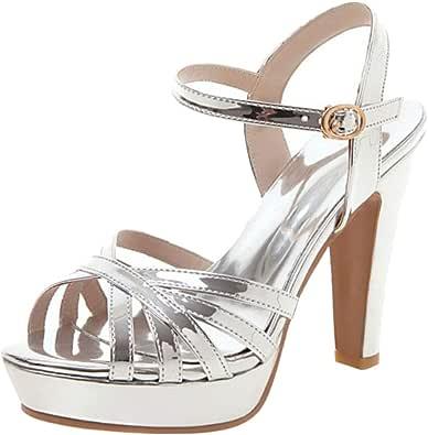 Lydee Donne Moda Scarpe Estive Tacco Blocco Piattaforma sandali