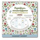 Familien Wochenplaner Flowers 2019- Eine Woche auf einen Blick, Familienplaner, Kalender für die gesamte Familie  -  30,5 x 30,5 cm -