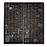 gfjfghfjfh Química física Criatura patrón Elegante 170x200 cm Cortinas de Ventana para el hogar Cocina Sala de Estar Dormitorio decoración de la Ventana