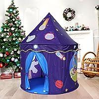 Virhuck Tienda del Castillo del Espacio Tienda De Poliéster (Púrpura) Carpas campaña en el Aire Libre