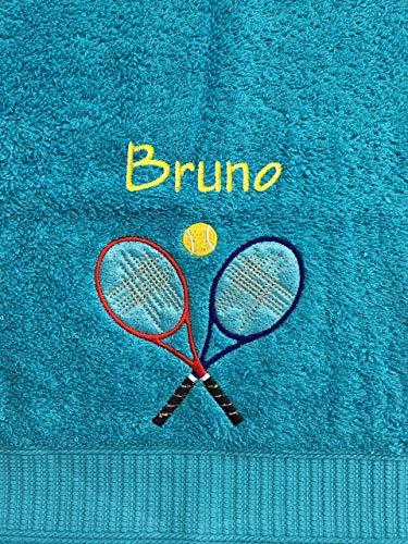 Tennis Handtuch bestickt mit Motiv und Name -