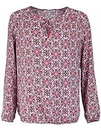 BETTY BARCLAY Langarm Blusenshirt Rundhals Allover Druck Muster rosa
