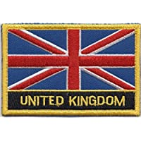 United Kingdom Flag Embroidered Rectangular Patch Badge / Sew On Or Iron On - Exclusive Design From 1000 Flags