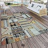 Paco Home In- & Outdoor Teppich Modern Ethno Muster Terrassen Teppich Wetterfest Bunt, Grösse:160x220 cm
