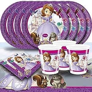 Kit de fête princesse Sofia pour 16 personnes