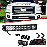 "Led Light Bar Lmpara 22"" 120W Flood Spot + 2* 4"" Luz Trabajo + Cableado"