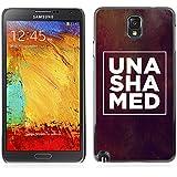 RAJCASE Premium slim Aliminium Casa Carcasa Funda Case Bandera Cover Armor Shell / UNSHAMED / Samsung Note 3