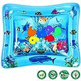 Baby Wassermatte, Aufblasbare Baby Wasser-Spielmatte für Kleinkinder BPA-frei Auslaufsicher...