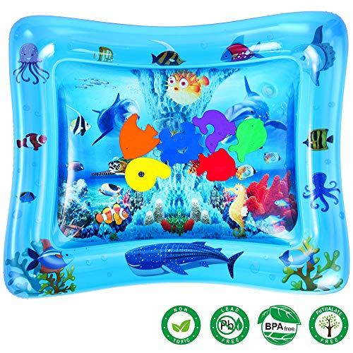 Dann Spülen (Baby Wassermatte, Aufblasbare Baby Wasser-Spielmatte für Kleinkinder BPA-frei Auslaufsicher Aktivitätscenter für Neugeborene Spaß Sommerkühlung Spielzeug)