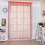 Cortina de tiras Taiyuhomes, para decoración del hogar y separador con borla, tela, Rainbow, W90xL200cm(35x79')