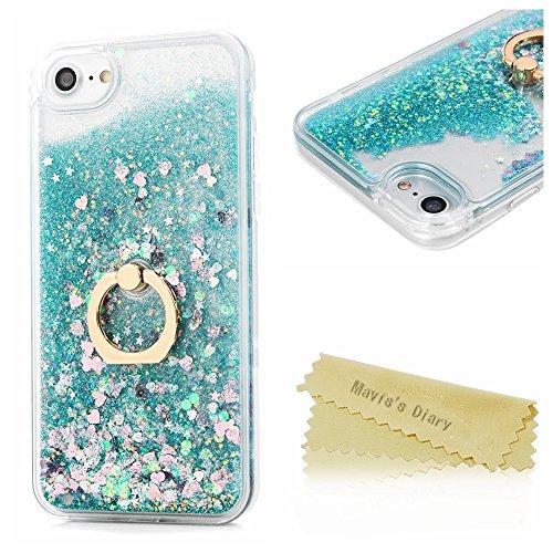 maviss-diary-iphone-7-case-47-360-degree-rotating-ring-stand-flowing-liquid-glitter-sparkly-stars-lo