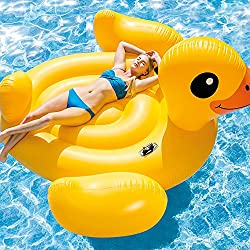 Intex - Patito mega hinchable, 221 x 221 x 109 cm (56286EU)