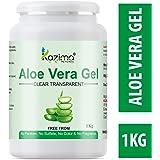 KAZIMA Aloe Vera Gel Raw - 100% Pure Natural Gel - Ideal for Skin, Face, Acne Scars, Hair, Moisturizer & Dark Circles (1…