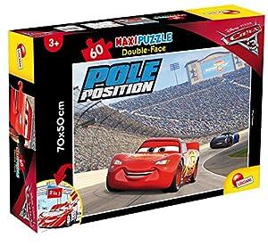 Liscianigiochi - Rompecabezas Cars 3Supermaxi - Lightning Mcqueen - 60 Piezas de Doble Cara Rayo Mcqueen