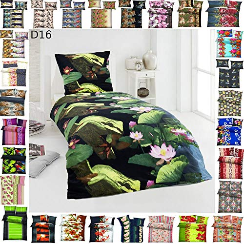 BFW 4 TLG Warme Microfaser Fleece Winter Bettwäsche 135x200 + 80x80 viel Auswahl, Design - Motiv:Design 16