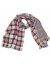 KGM Accessories écharpe châle tdouble Couche réversible Motif Tartan  écossais Tweed houdstooth et Gants ... ef16415914b