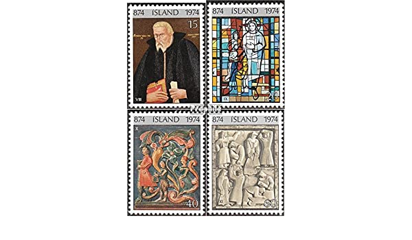 Complete.Issue. Iceland 494-497 1974 Colonization Stamps for Collectors Painting