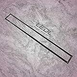 LEDL Drainage Technology Stone Tile Marble Insert Shower Drain Channel for Floor Bathroom