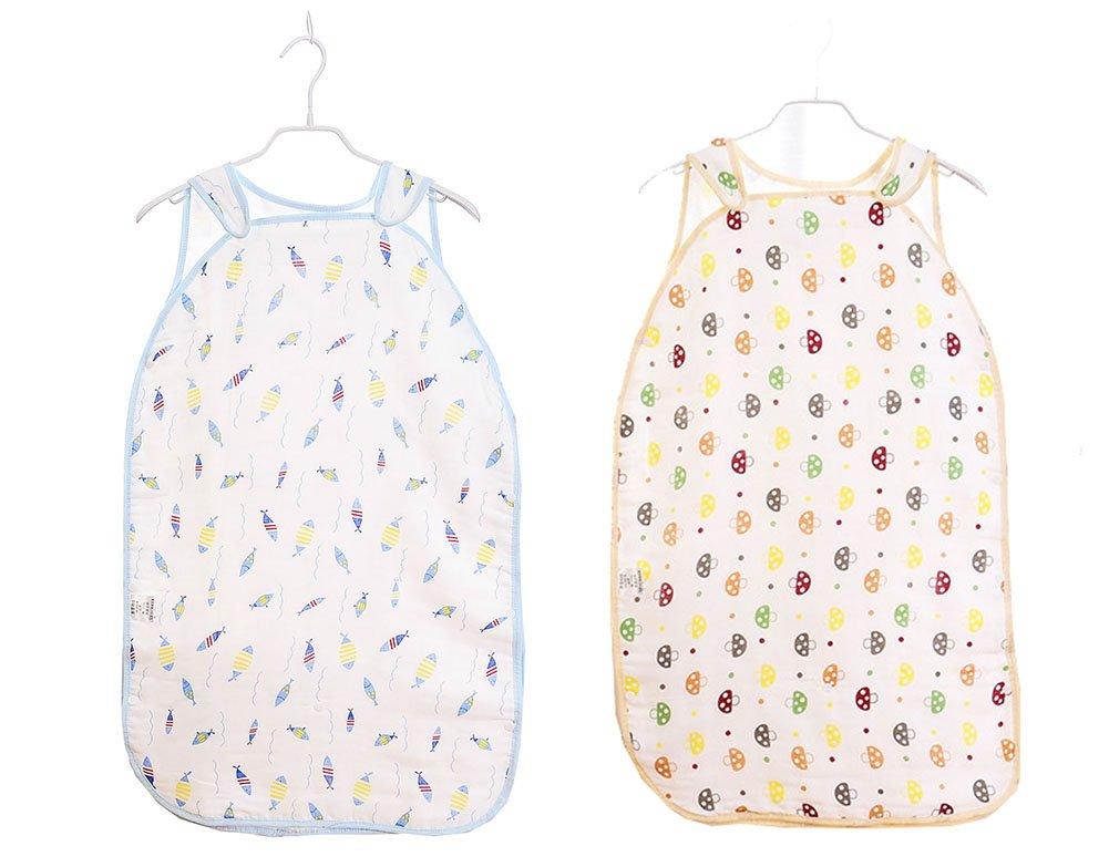 Sacos de Dormir para Bebé, Peso de Verano, Lavable a Máquina,0.5 Tog, 2PCS, Tamaño L: 1-2 Años 93cm