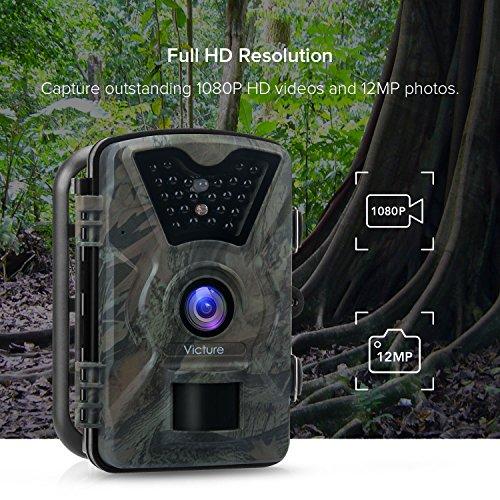 Victure HC200 - Cámara de Caza Vigilancia 12MP 1080P IP66 Impermeable 24 IR  Invisible 1 PIR 5bbdc52564dc