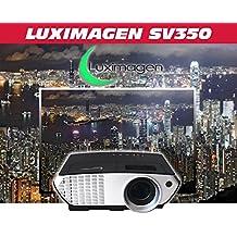 proyector barato Luximagen SV350 con WIFI, Android, TV TDT, USB, HDMI, VGA, AC3, FULLHD soportado, 2 años de garantía