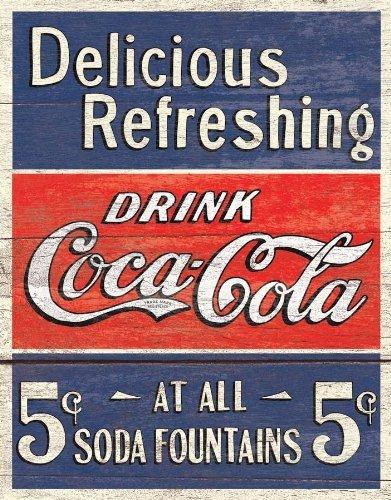coca-cola-delicious-5-c-a-fontane-metal-sign-port