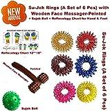Super India Store Acupressure Massage Sujok Ring In Assorted Colors Set Of 6 Pcs