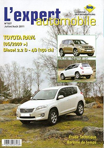Revue technique TOYOTA RAV4 Diesel 2.2 D-4D 150cv depuis 05/2009 LEA507 – Juillet/Août 2011