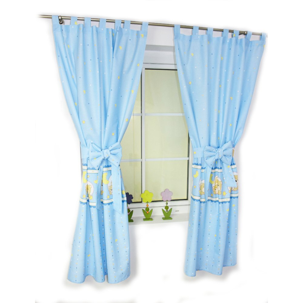 Kinderzimmer vorhänge schlaufen baby gardinen vorhang ...