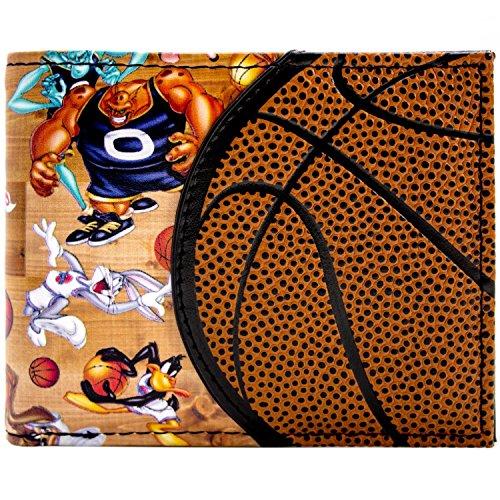 Space Jam Basketball Entwurf Aliens & Looney Tunes Braun Portemonnaie Geldbörse (Basketball Kostüm Muster)