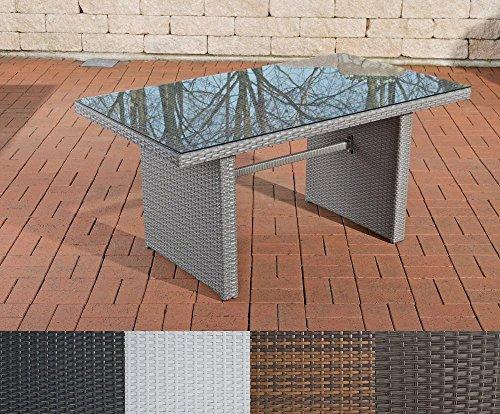 CLP tavolo in polyrattan FISOLO, fino a 4colori a scelta, giardino tavolo dimensioni circa 140x 80cm, altezza: 66cm