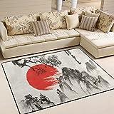 JSTEL Super Soft modernen japanischen Landschaft, EIN Wohnzimmer Teppiche Teppich Schlafzimmer Teppich für Kinder Play massiv Home Decorator Boden Teppich Matte und Teppiche 160x 121,9cm