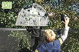 EXIT Trampolin Basket 11.40.50.01 / Basketballkorb mit Rückwand für Trampoline inkl. Schaumstoffball / Farbe: schwarz-grün / Gewicht: 1 kg