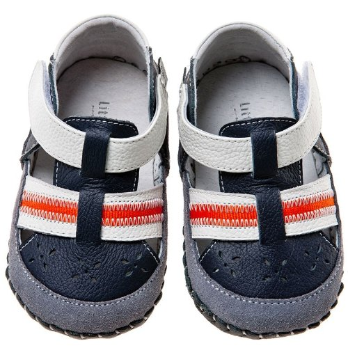 Farbe Sandalen Blue 12 Größe Babyschuhe Blau Little Lauflernschuhe 6 Lamb Monate zfOxqg