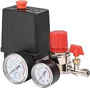 Wandisy Luchtcompressor-drukregelaar, kleine luchtcompressor-drukschakelaar, regelventielregelaar met meetinstrumenten