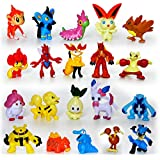Hooriyas Pokemon -Go -Pikachu Real Action Toys (Set Of -10 Toys) 2/3 Cm -Randomly