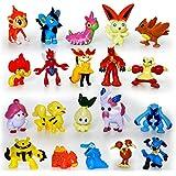 Hooriyas Pokemon -Go -Pikachu Real Action Toys (Set Of -10 Toys) 2/3 Cm -Randomly