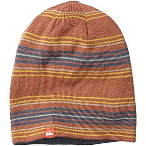 Quiksilver, Cappello Uomo Preference, Multicolore (Burnt Brick),