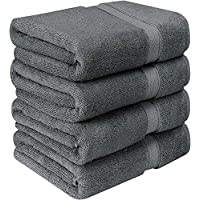 Utopia Towels Bath Towels, 4 Pack - 600 GSM, 69 x 137 cm, Grey