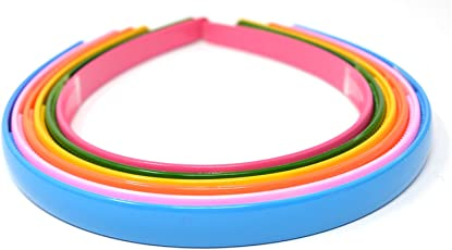 Anokhi ADA Daily Use Premium Quality Multicolor Plastic Sleek Hair Band for Girls (Pack of 6)