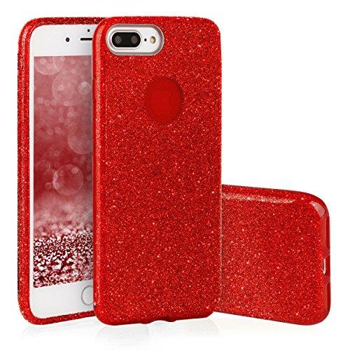 Étui Ego® | TPU Coque de protection glamour pour iPhone 8plus scintillant doux Bumper anti-chocs Rot