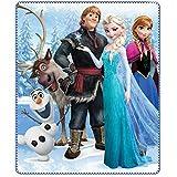 Disney Eiskönigin Frozen Kinder Decke Fleece Kuscheldecke Freunde 120x140 cm