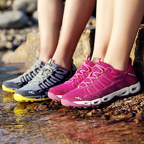 Suetar Scarpe da ginnastica uomo/donna estate e autunno sneakers a rapida essiccazione per trekking arrampicata passeggiata campeggio alpinismo DeepBlue
