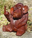 Balibarang Neu großer Affe Stinkefinger Tier Holz Monkey Animal