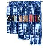 Katomi - Fundas a prueba de polvo para vestidos, tamaño grande, para colgar la ropa en el perchero del armario, juego de 3, azul real (azul) - SM-16801-R2R127