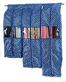 Katomi Thickening antipolvere per abiti, cappotti, vestiti, guardaroba-Sacchetti per abiti, Set da 3, colore: blu reale
