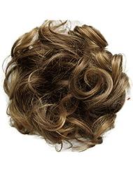 PRETTYSHOP Postiche Cheveux En Caoutchouc Chouchou Scrunchy Chignons VOLUMINEUX Bouclés Ou Chignon Décoiffé Différentes Couleurs G16E