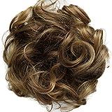 PRETTYSHOP Haarteil Haargummi Hochsteckfrisuren, Brautfrisuren, VOLUMINÖS, gelockter unordentlicher Dutt, hellbraun mix 30T26 G16E